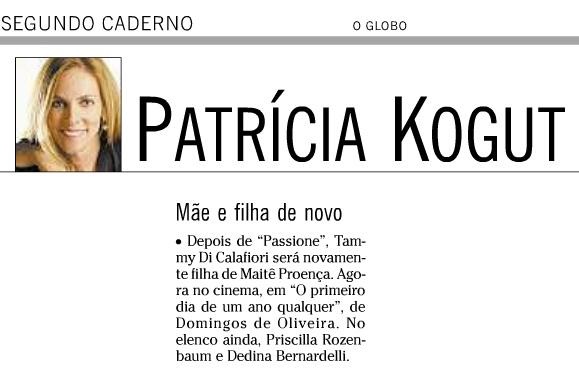 Tammy Di Calafiori - Patrícia Kogut 18 02 2012