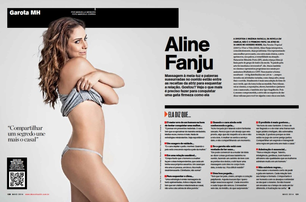 Aline Fanju - Revista Mens Health Maio 2014